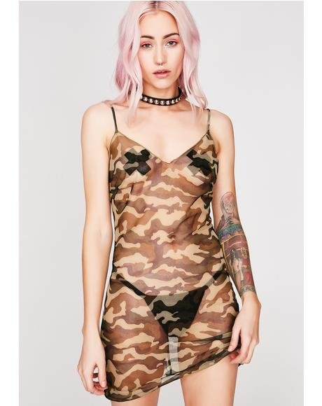 Not A Drill Sheer Dress