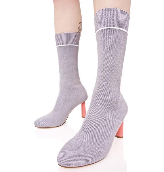 Soft Flicker Sock Boots