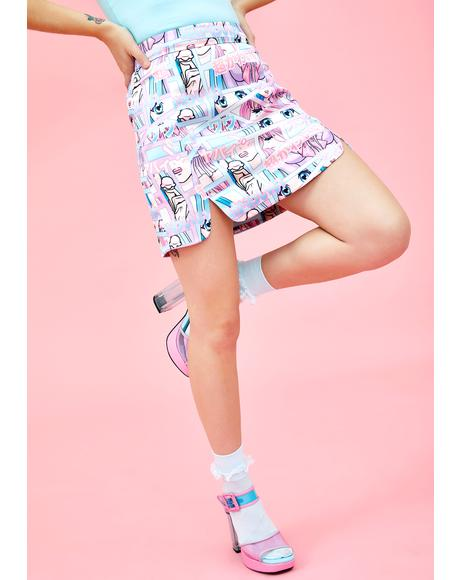 Comic Scene Cutie Mini Skirt