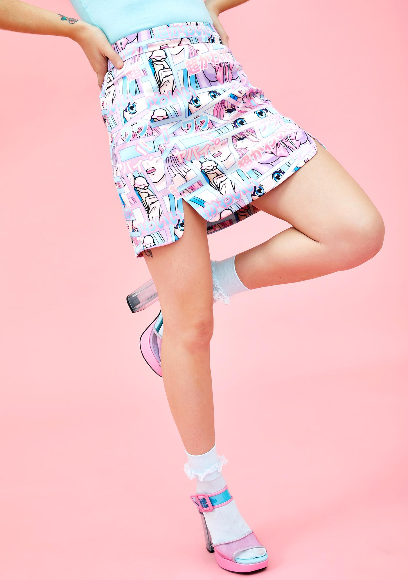 Sugar Thrillz Comic Scene Cutie Mini Skirt