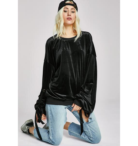 Loose Ends Velvet Sweater