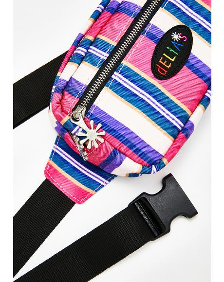 Everyday Diva Striped Fanny Pack