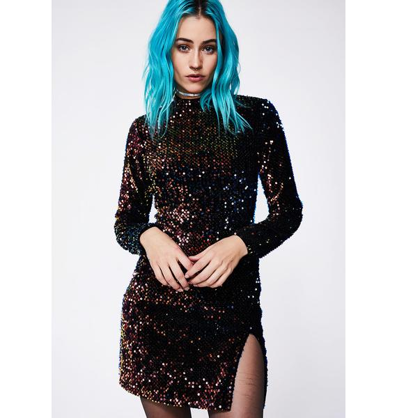 Motel Prism Shine Rosella Dress