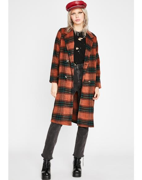 Perfect In Plaid Trench Coat
