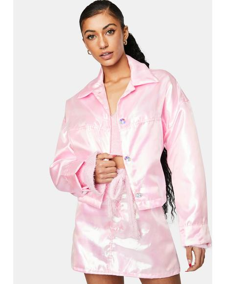 Light Pink Fairy Dust Iridescent Jacket