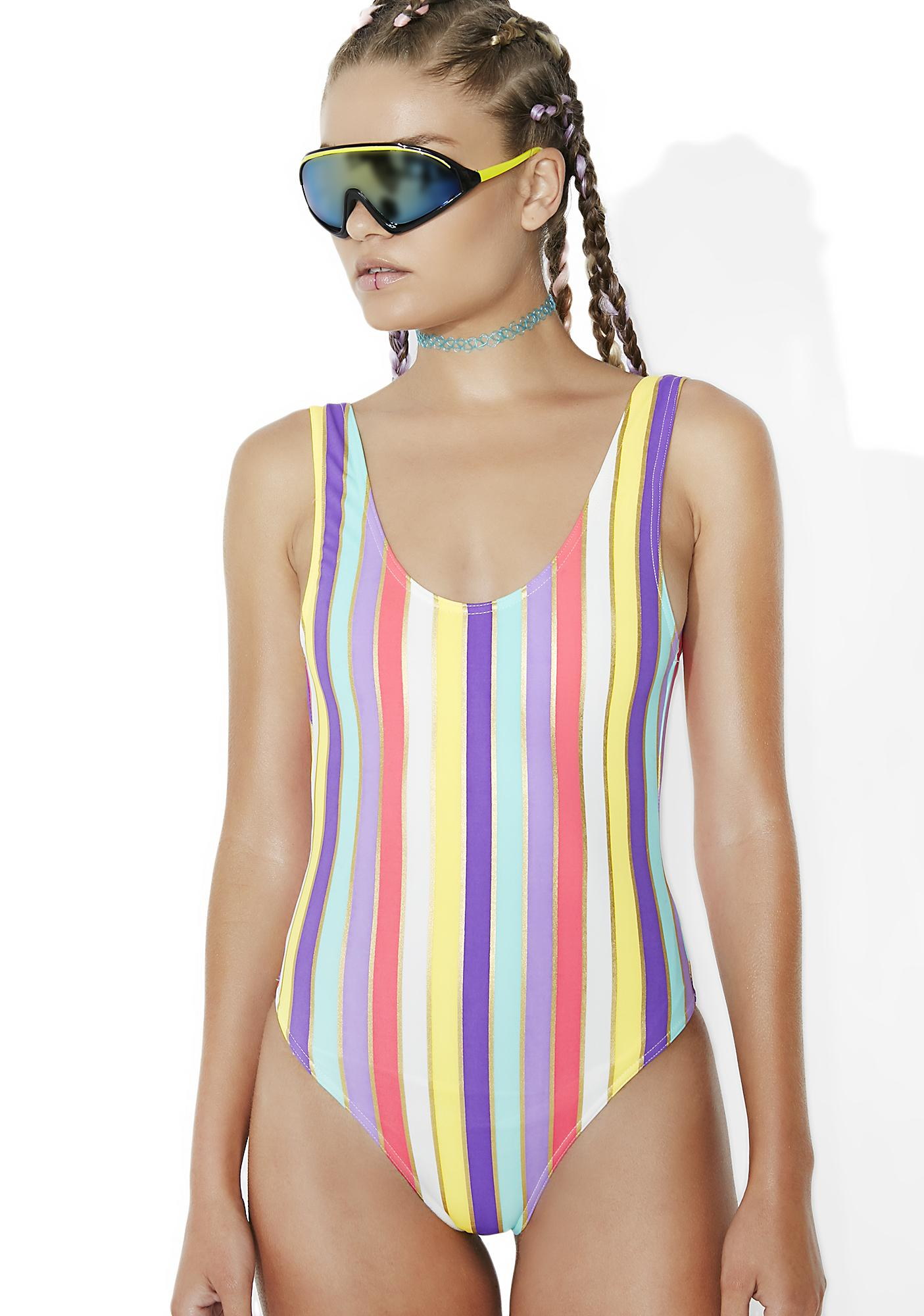 Sweet Like Candy Striped One Piece