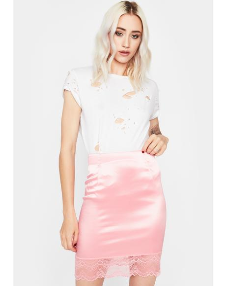Sweet Pretty Girl Rock Mini Skirt