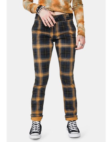 Brown Duck Plaid Work Pants