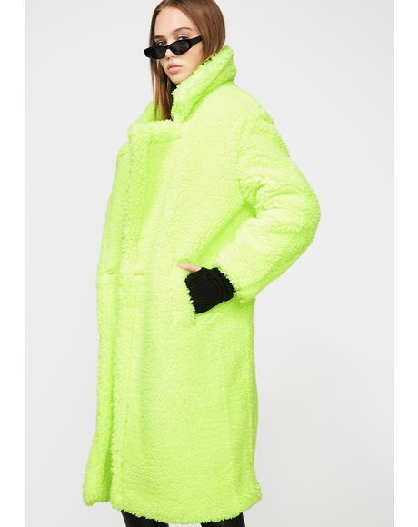 Naomi Neon Long Coat