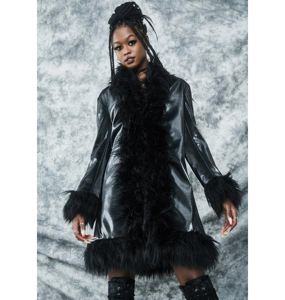 dELiA*s by Dolls Kill Total Eclipse Faux Fur Coat