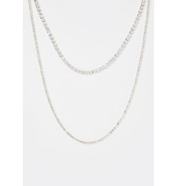 Silver Screen Star Wrap Necklace