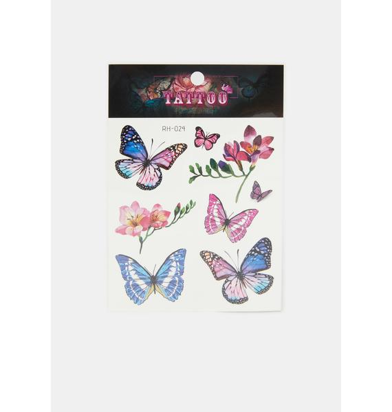 Glam Butterfly Temporary Tattoo