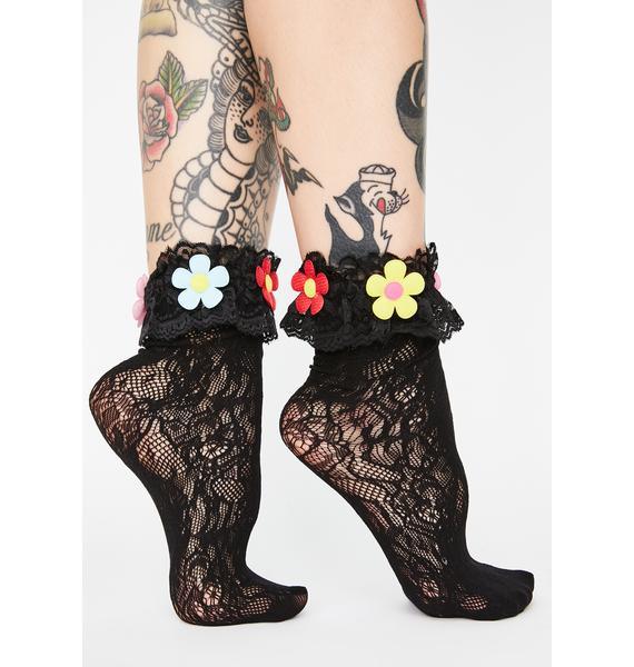 Noir Skip To My Lou Crew Socks