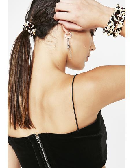 Lucky Leopard Scrunchie Set