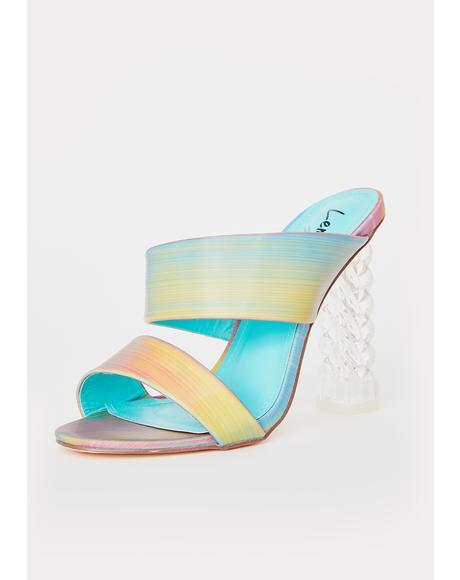 Arizone Iridescent Heels