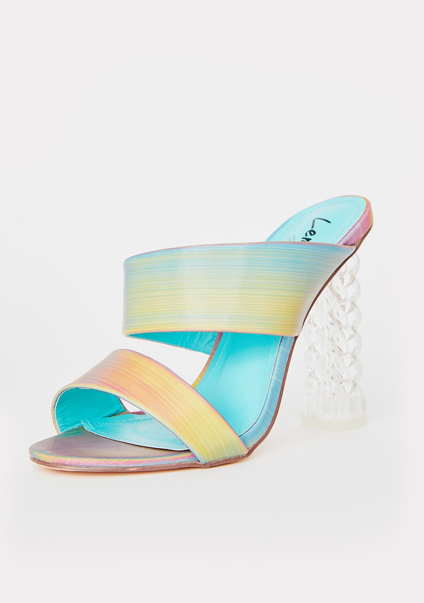 Lemon Drop by Privileged Arizone Iridescent Heels