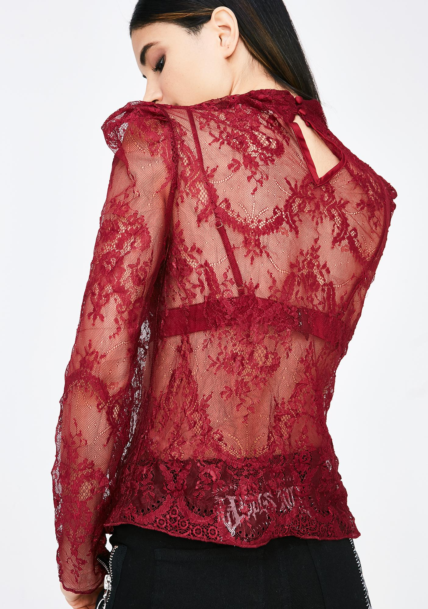 Hot Date Lace Top