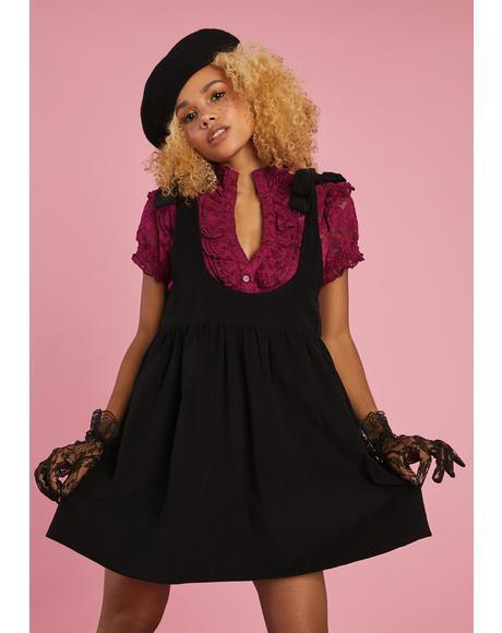 Think Of Me Pinafore Dress