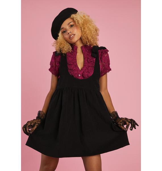 Sugar Thrillz Think Of Me Pinafore Dress