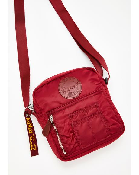 Cherry Red Super Mini Nylon Bag