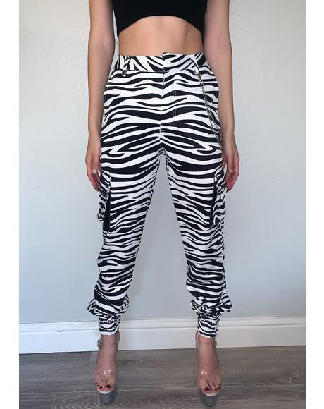 Zebra Cargo Pants