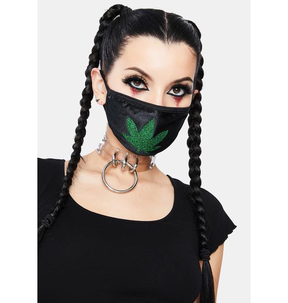 Neva Nude Weed Leaf Face Mask