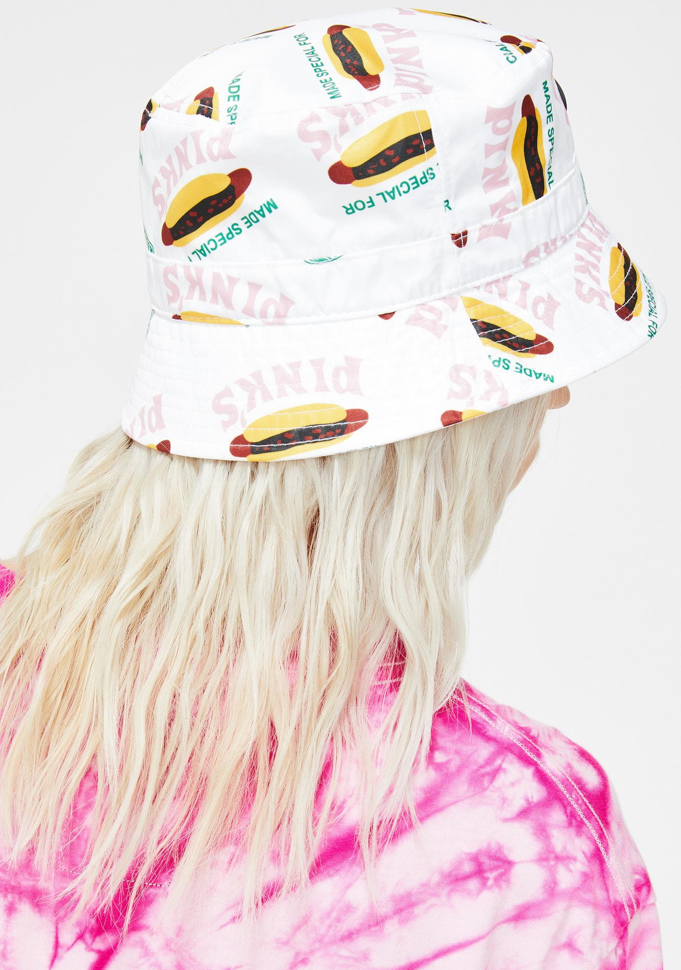 Petals and Peacocks X Pink's Hot Dogs Made Special Bucket Hat