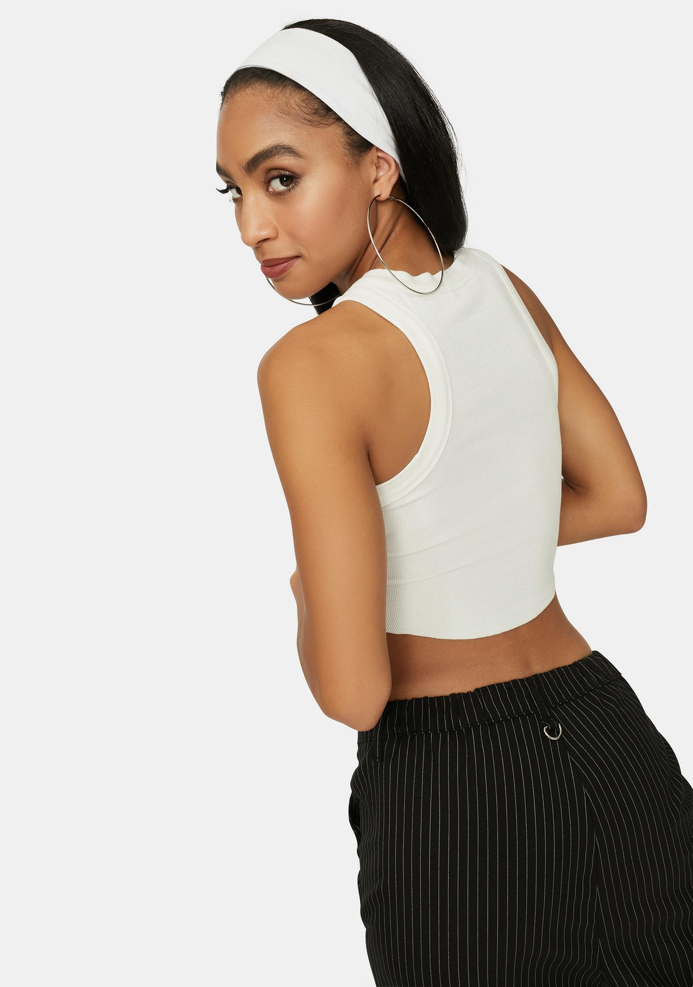 On The Go Cropped Muscle Tank