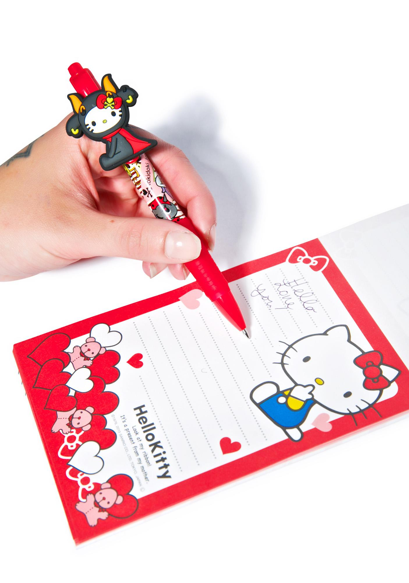 Sanrio Red Ribbon Hello Kitty Memo Pad