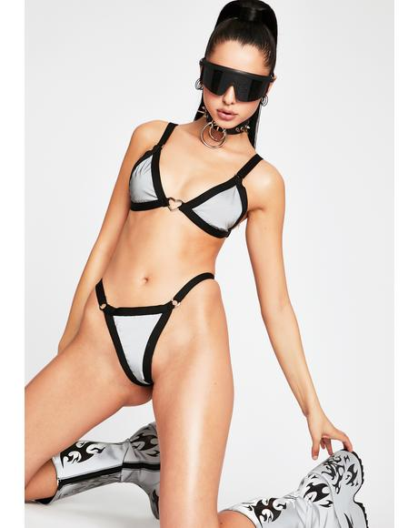 Heart Reflective Bikini Set