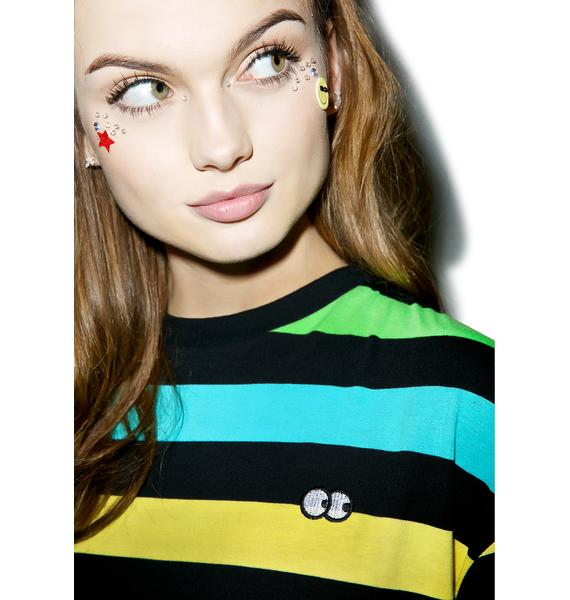Lazy Oaf Rainbow Stripe Dress
