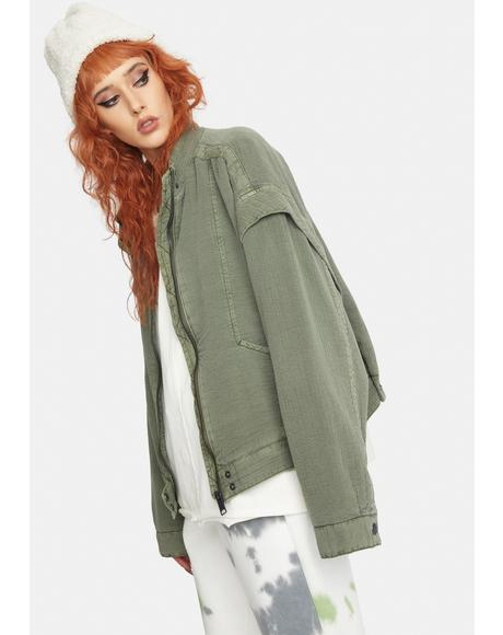 Florence Quilted Bomber Jacket