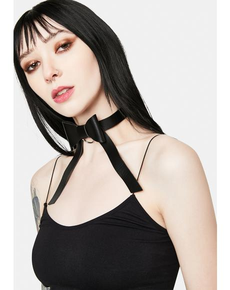 Noir Hopeful Future Bow Choker