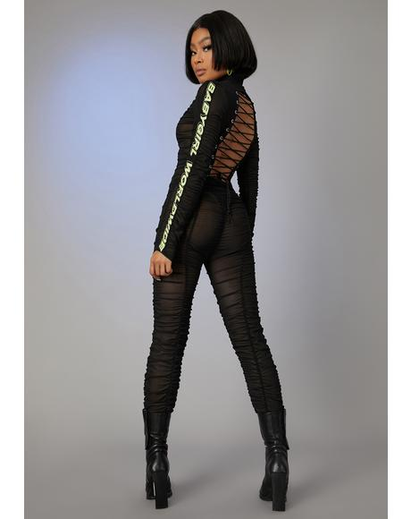 Run The Scene Mesh Catsuit