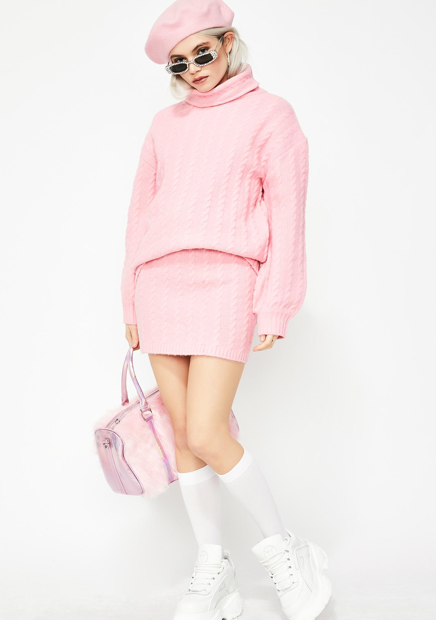 6835ce3a9e ... Bubblegum Pop Cable Knit Sweater ...