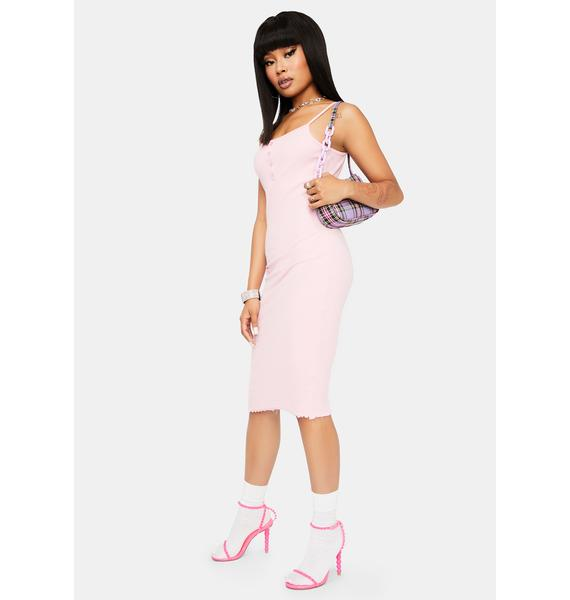 Blush Run The Town Midi Dress