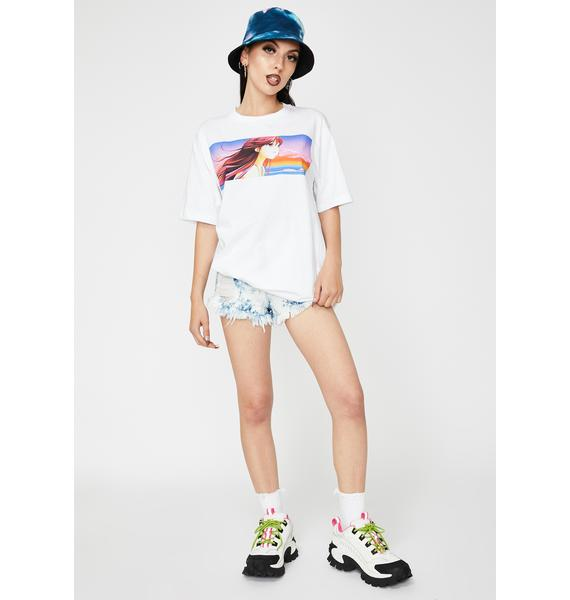 Becky Loves You Anime Wave Girl Graphic Tee