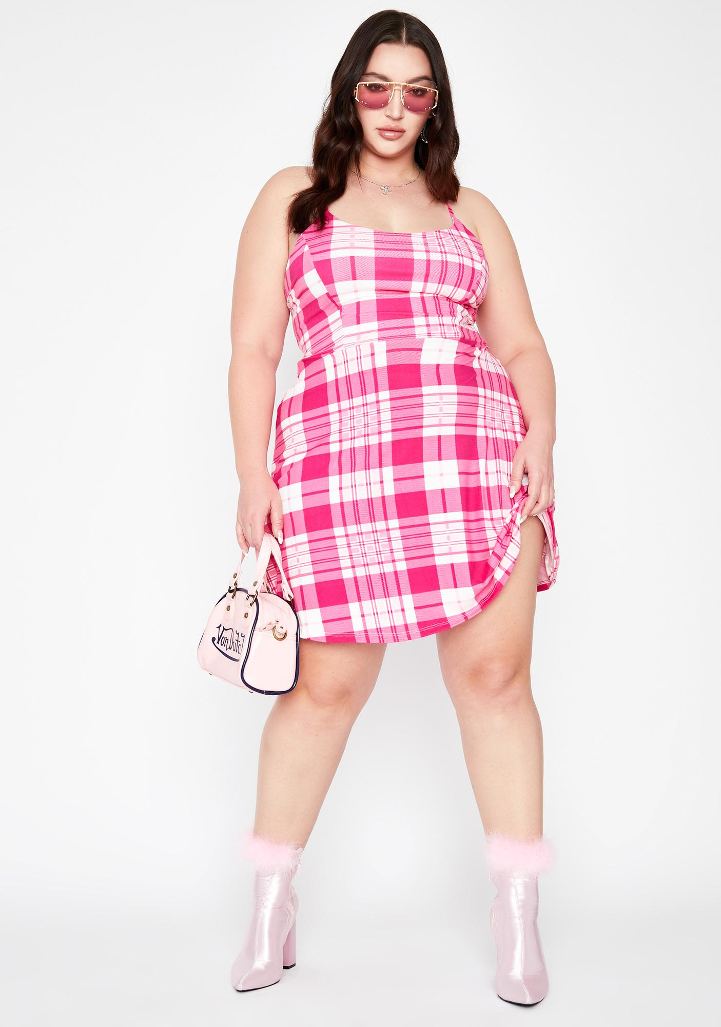 BB Plz No More Rules Plaid Dress