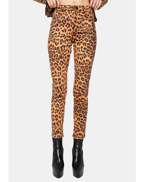 Follow Da Leader Leopard Skinny Pants