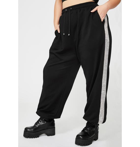Poster Grl Your Drip Disorder Rhinestone Joggers