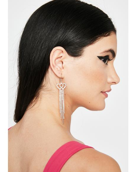 Reigning Love Rhinestone Earrings