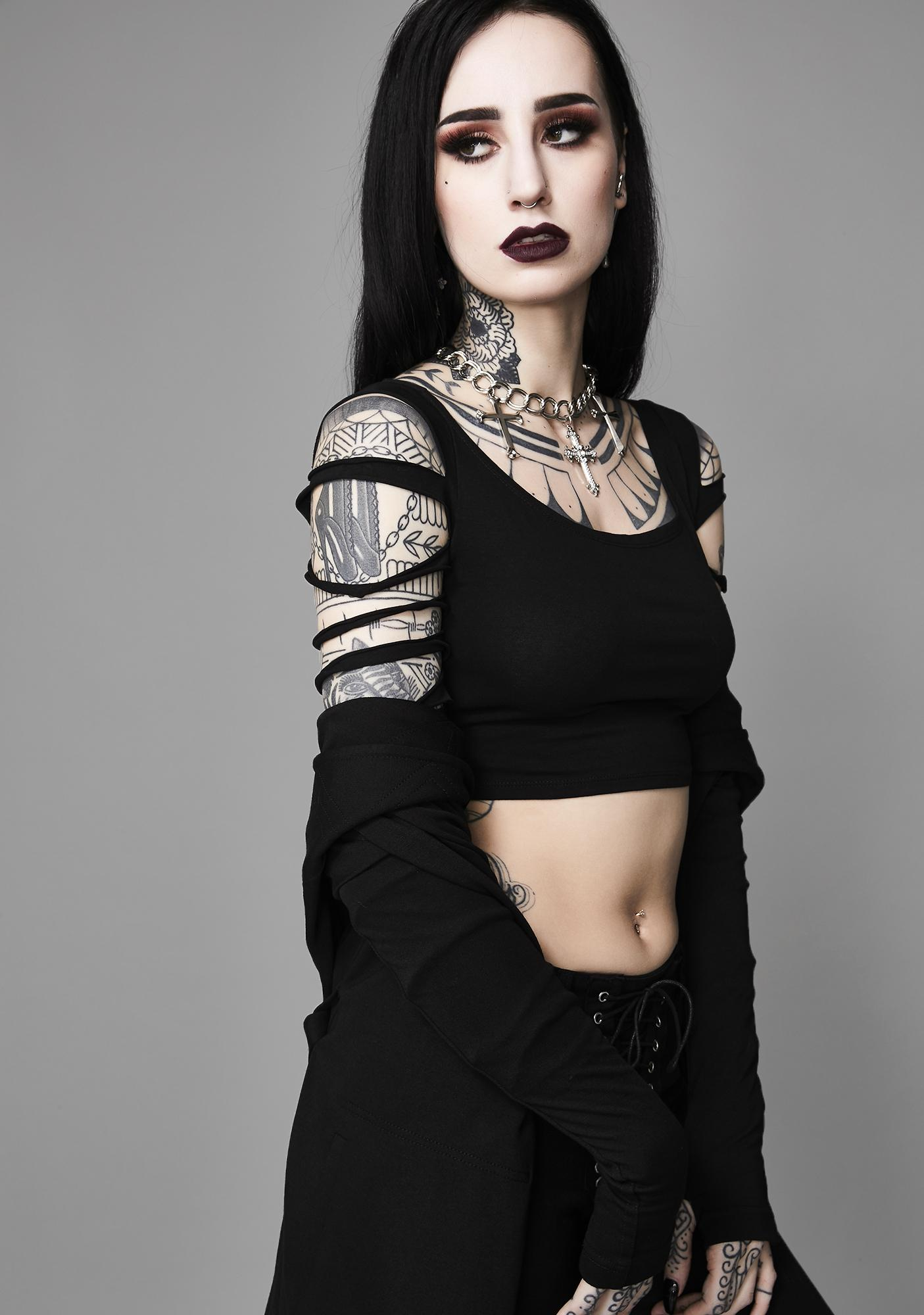 Widow Crypt Creeper Shredded Top