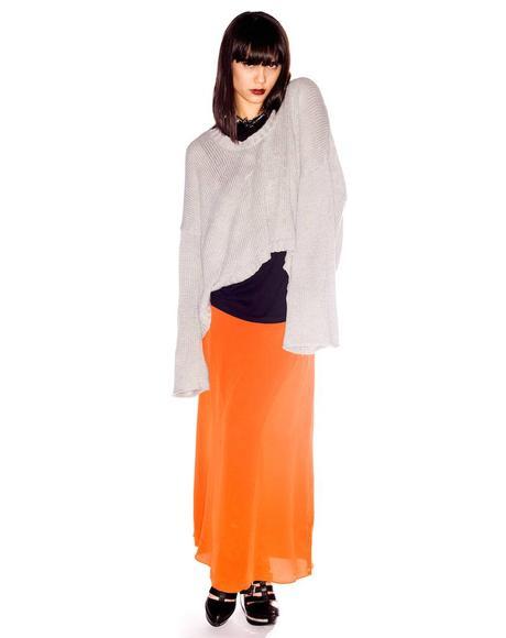 Harlequin Silk Skirt