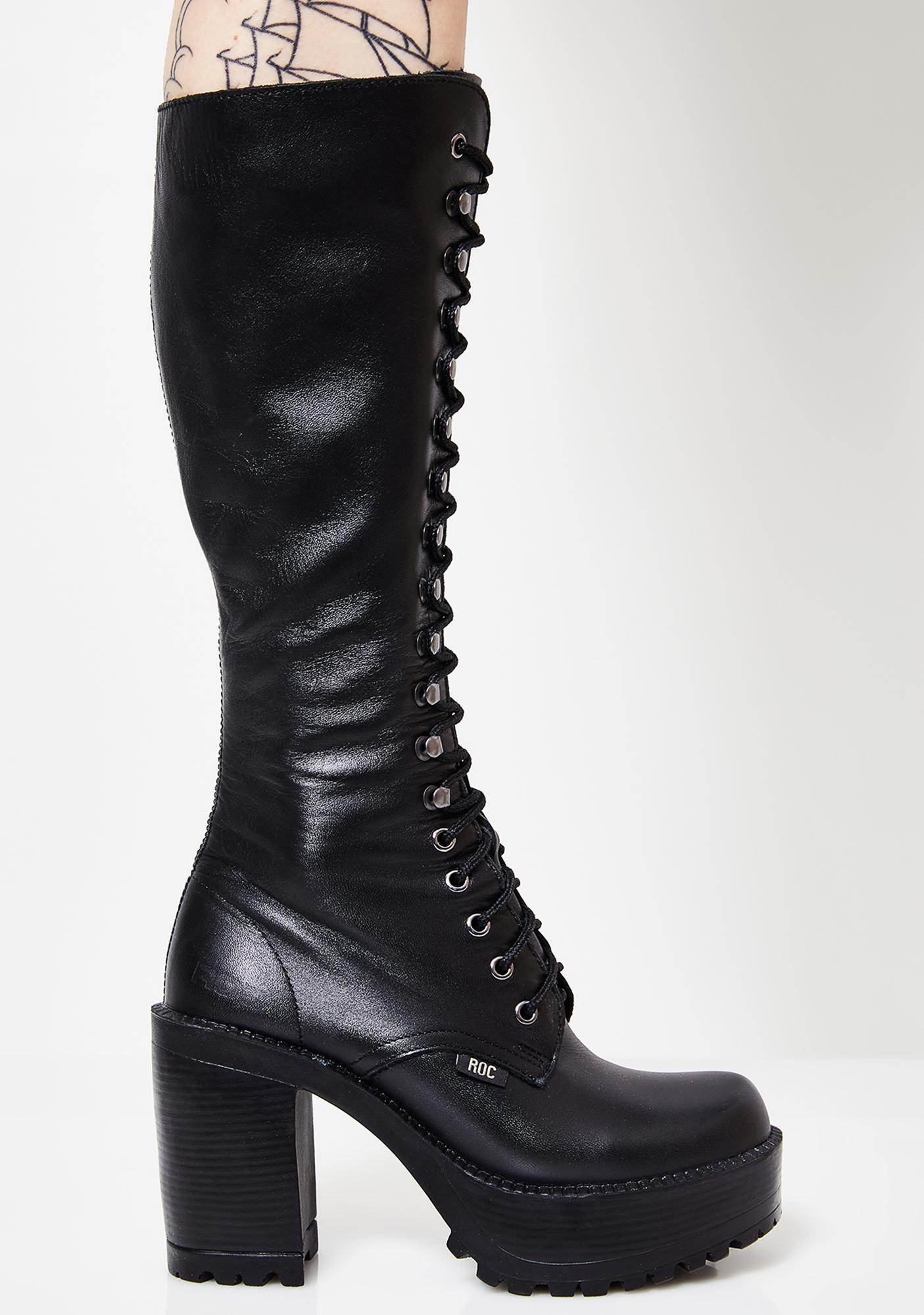 abc14c05353 ROC Boots Australia Lash Boots | Dolls Kill