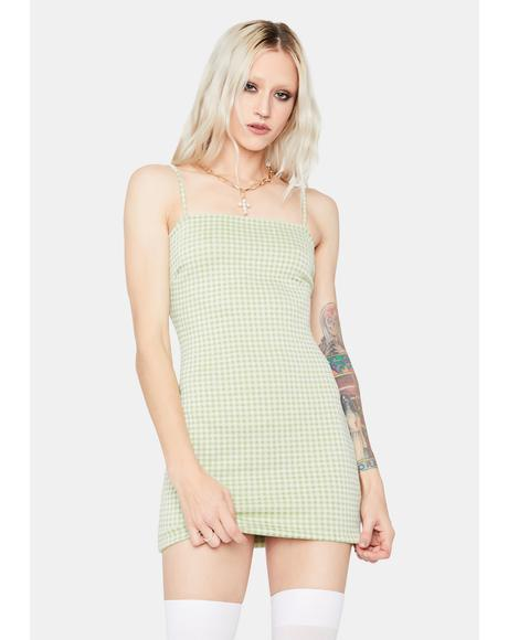 Lush By The By Gingham Mini Dress