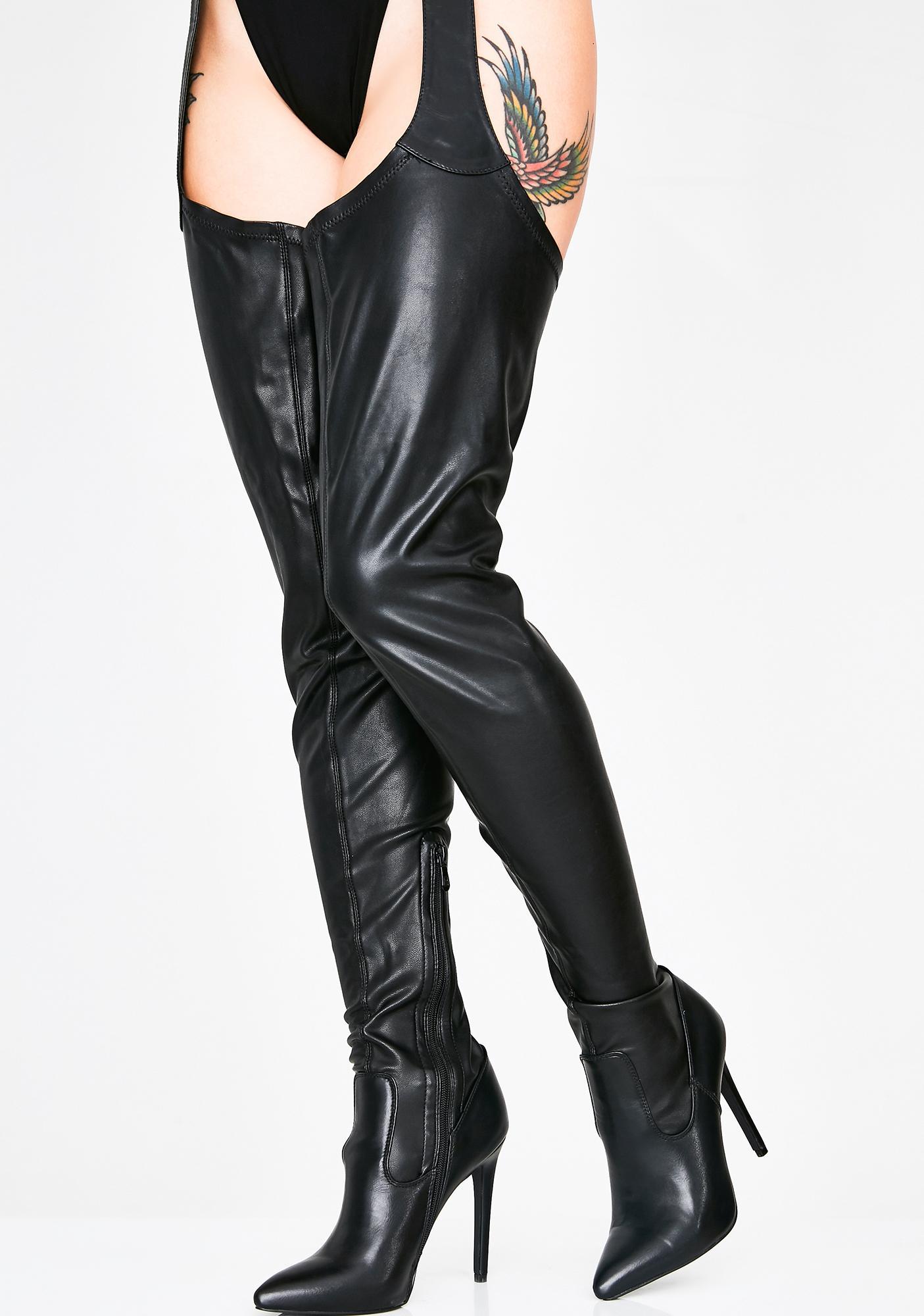 AZALEA WANG Westloop Chap Boots