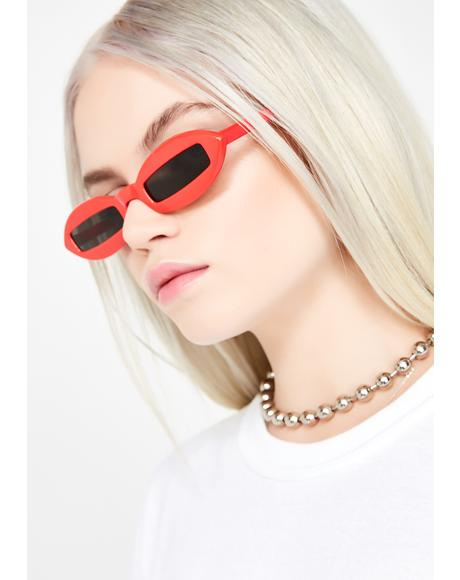 Thirst Quenched Oval Sunglasses
