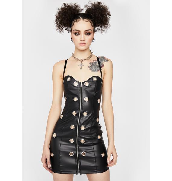 No Discipline Faux Leather Dress