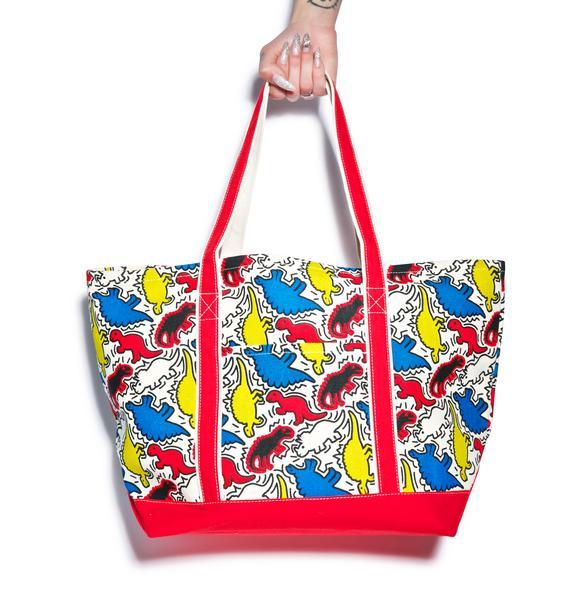 Dino Pop Art Tote Bag