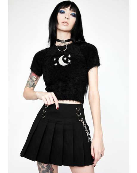 Astral Projection Pleated Skirt